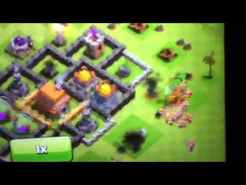 Clash Of Clans 110 Barbarians Killed with Giant Bomb EPIC
