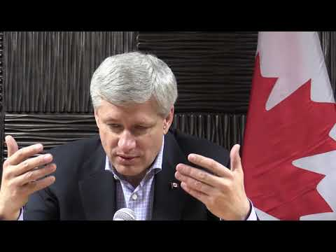 """FULL INTERVIEW Canadian Prime Minister Stephen Harper Calls The Liberals Economic Plan """"all..."""