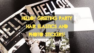 Hello! Japan Greeting Party Hair Elastics & Photo Stickers
