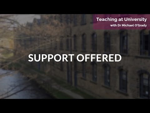 Teaching at Unversity: Support Offered | Sophie Thomas