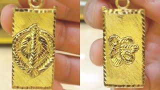 Gold Khanda Ek Onkar Necklace Pendant Locket Amulet | Gold Jewelry Making