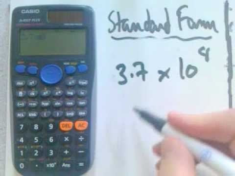Calculator Standard Form Youtube