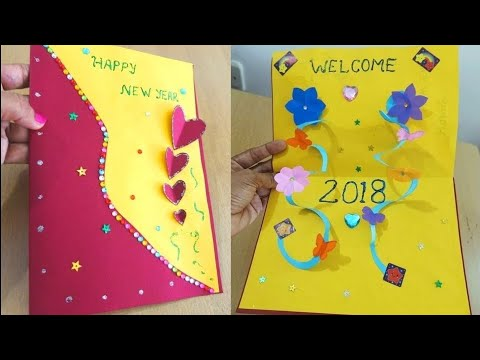 diy new year pop up card 2018 how to make new year card easily card making ideas tutorial download or watch