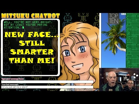 Funny Chatbot Mitsuku Changes Her Face Then Disrespects Us!