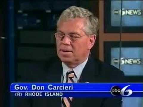 Governor Carcieri on ABC6 with Jim Hummel Part 1
