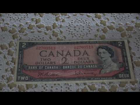 Canada $2 Note 1954 - Devils Face