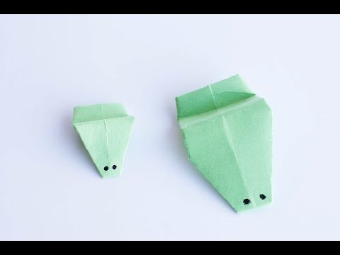 Easy Origami - Jumping Paper Frog