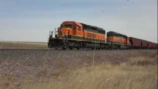 Railfanning the BNSF in Great Falls, Montana - April 9, 2012
