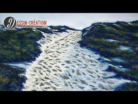 apprendre peindre un paysage au pastel sec bord de mer. Black Bedroom Furniture Sets. Home Design Ideas