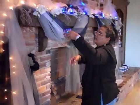 Wedding Decorations / Fireplace at Robbins Lodge fl - YouTube
