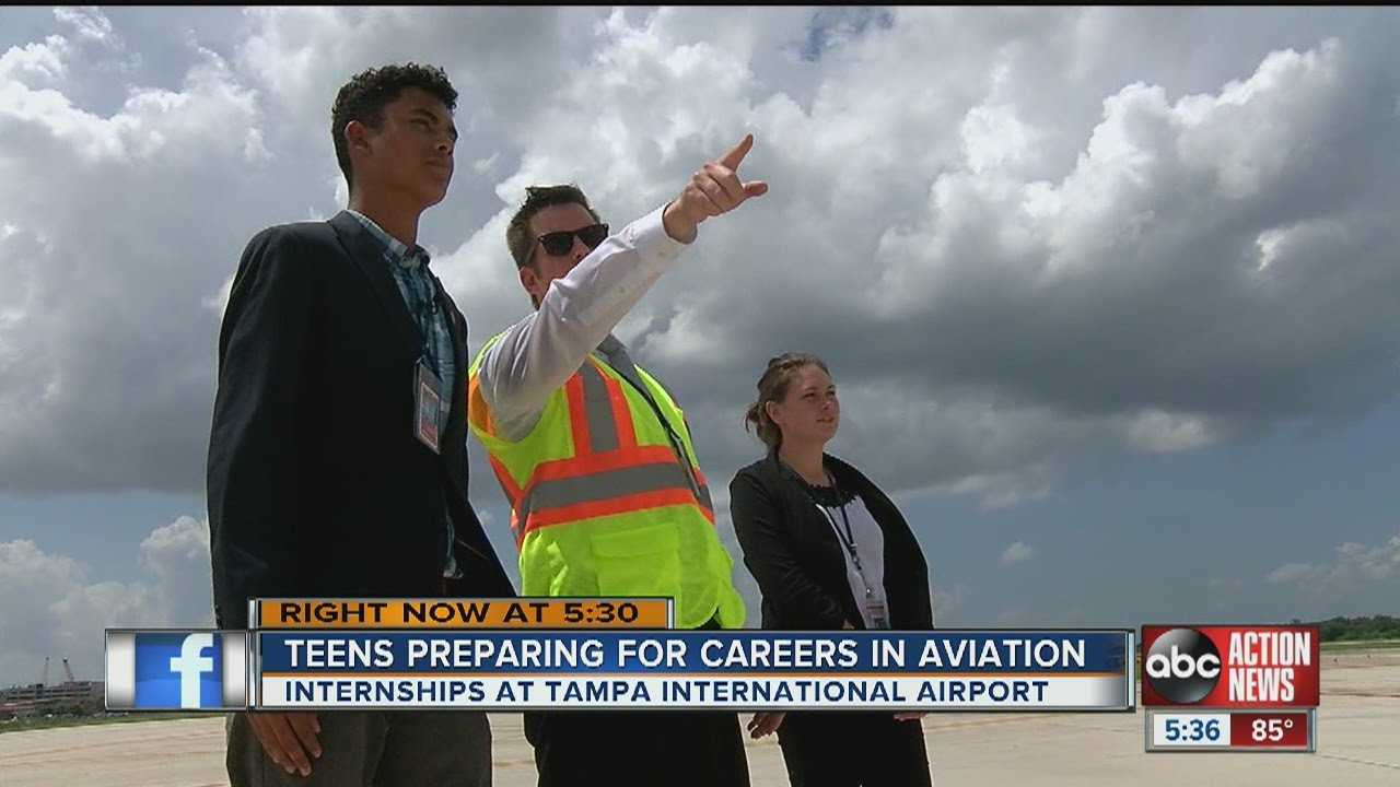 Teens prepare for careers in aviation with TIA internships