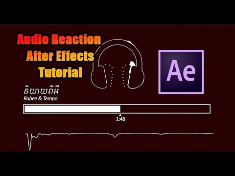Tutorial After Effects |  Audio React Any Object   Audio Reaction thumbnail
