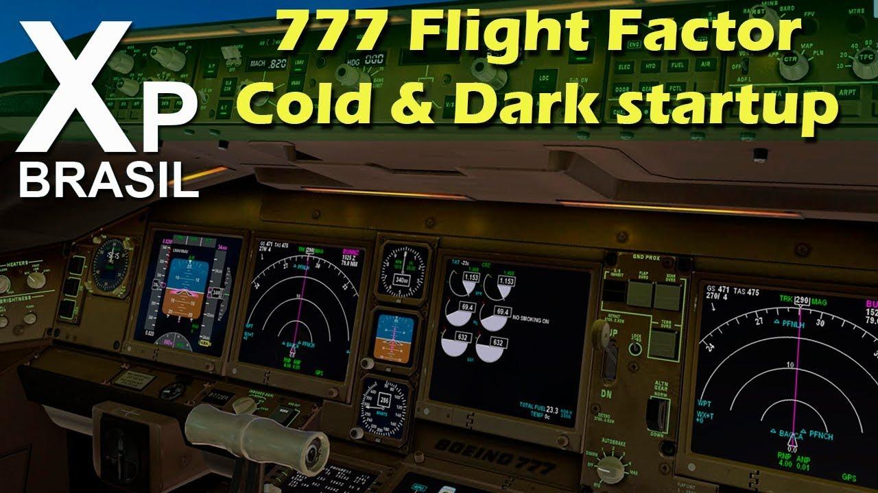 Tutorial Boeing 777 Flight Factor cold and dark startup