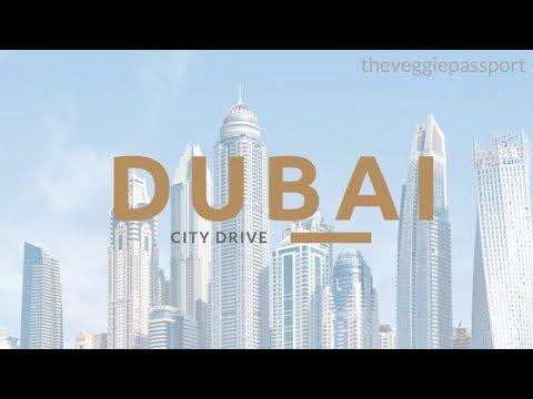 DUBAI DAY TO NIGHT DRIVE JUNE 2017 UNITED ARAB EMIRATES TRAVEL VLOG | THE VEGGIE PASSPORT