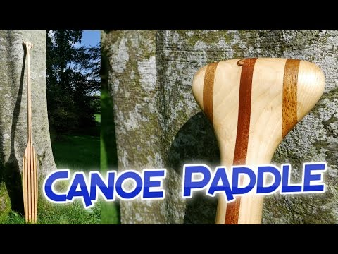 Making a Laminated Canoe Paddle from Salvaged Wood