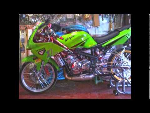 contoh modifikasi motor ninja rr hijau