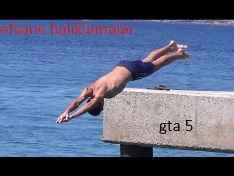 GTA 5 Suya Balıklama Atlama [EFSANE]