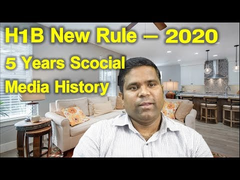 H1B Latest News 5 years Social Media History | H1B Visa Life in USA