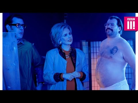 Life drawing with Hillary Clinton and Richard Osman - Murder in Successville: Episode 1 - BBC Three