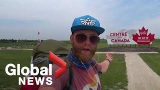 Man completes 9,000 km walk across Canada...
