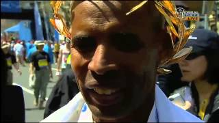 Meb Keflezighi 2014 Boston Marathon Victory Interview