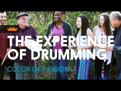 The Experience Of Drumming. Color Of Passion