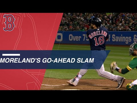 Moreland's go-ahead grand slam