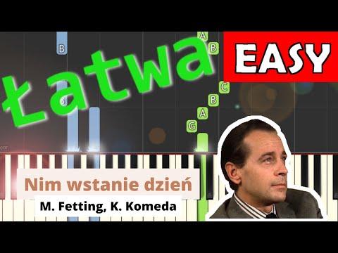 🎹 Nim wstanie dzień (E. Fetting, K. Komeda) - Piano Tutorial (łatwa wersja) 🎹