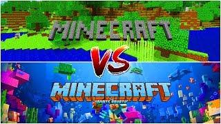 STARY MINECRAFT VS NOWY MINECRAFT! Od Alphy do Wodnej Aktualizacji!