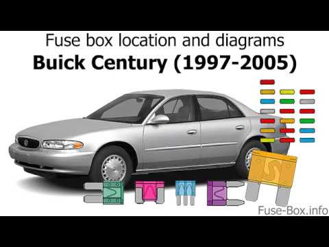 fuse box location and diagrams: buick century (1997-2005) - youtube  youtube