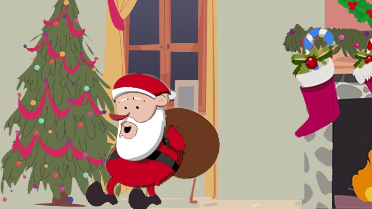 Up On The Housetop - Christmas Songs for Children with lyrics - YouTube
