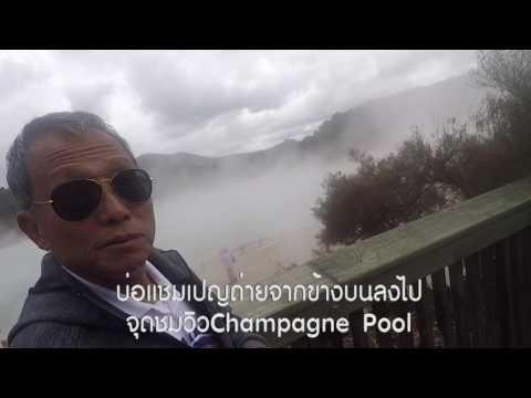 ขับรถบ้านเที่ยวนิวซีแลนด์14วัน33/41ดูบ่อโคลนเดือดที่ Wai-O-Tapu จุดชมวิวChampagne PoolLake Ngakoro