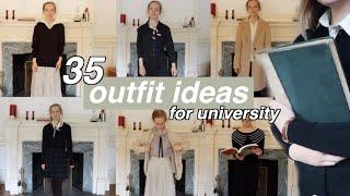 Outfit Ideas, Essentials & What I Wear in a Week *dark academia*
