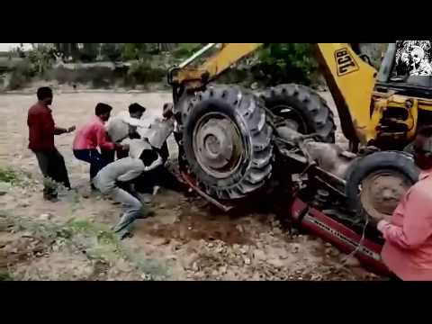 impossible-tractor-driver-escapes-close-death-★-tractor-stunt-men-lovers-must-watch
