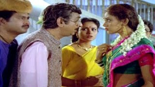 Alludugaru Movie || Shobana & Gollapudi Maruti Rao Comedy Scene || Mohan Babu, Shobana