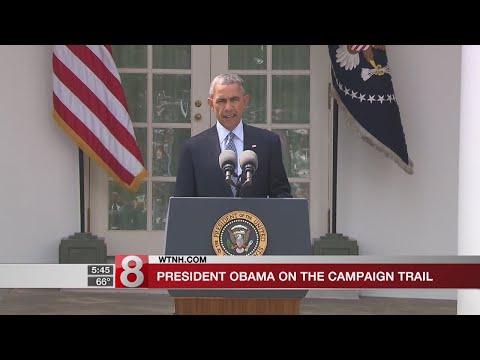 Former President Obama returns to campaign trail - Dauer: 17 Sekunden