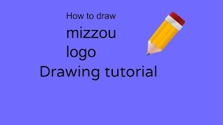 how to draw mizzou logo [first video]!