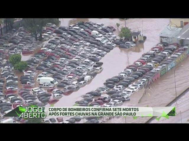 Chuva provoca estragos na Grande São Paulo