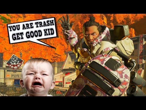 Toxic Trash Talking Gibby.. Drops 22 with a Tripple Take (Apex Legends)
