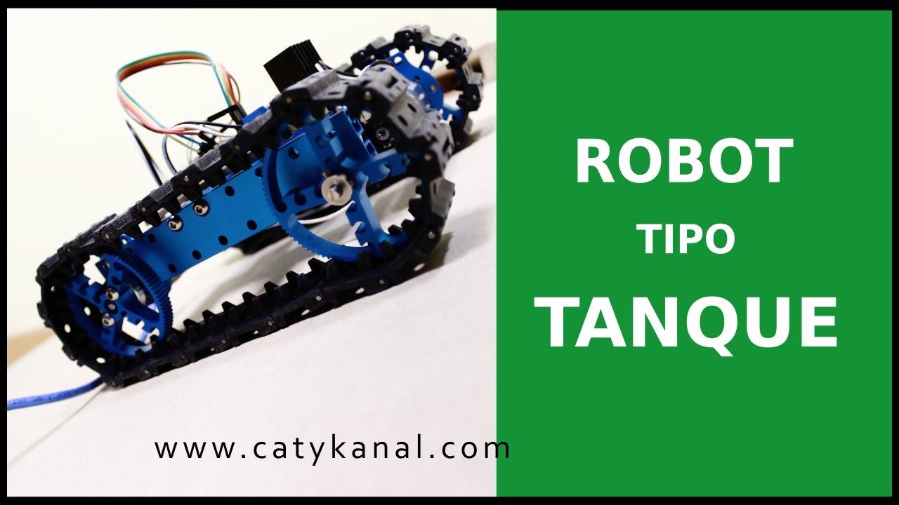 Construyendo robot con llantas de tanque youtube