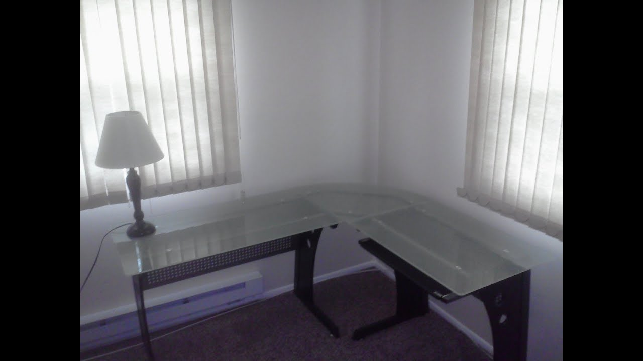 Techni Mobili Lshaped Glass Computer Desk  YouTube