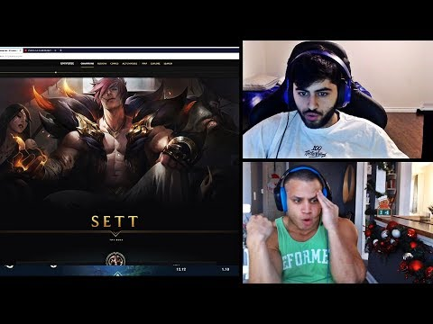 TYLER1 AND YASSUO REACT TO NEW CHAMPION SETT AND HIS ABILITIES | SETT GAMEPLAY LEAGUE | LOL MOMENTS