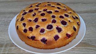Быстрый вишневый пирог ЭТО ОЧЕНЬ ВКУСНО Cherry Pie