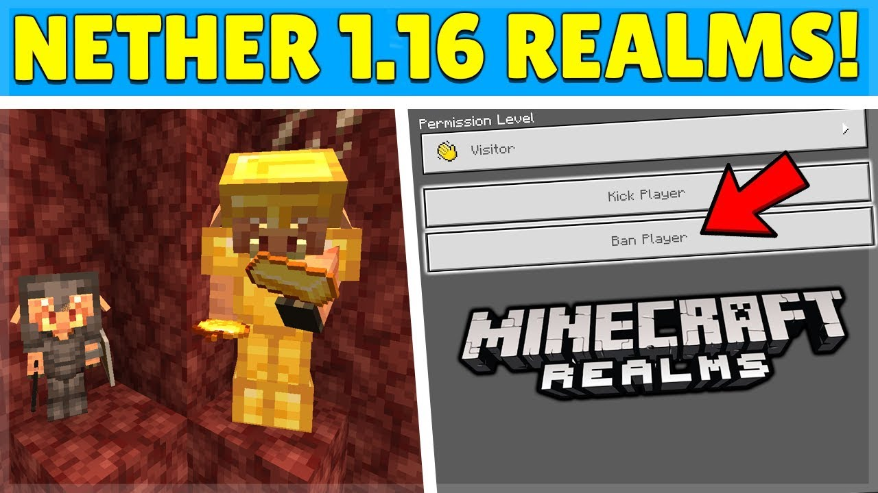 MCPE 8.86 Nether Update - YOU Can Ban Players From Realms..
