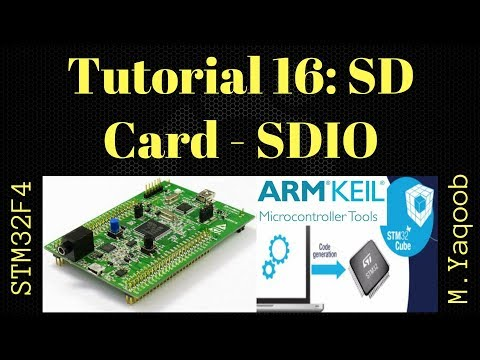 STM32F4 Discovery board - Keil 5 IDE with CubeMX: Tutorial 16 SD Card SDIO - Updated Dec 2017