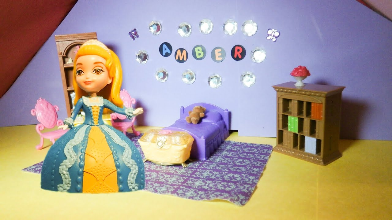 SOFIA THE FIRST Disney Junior Design Princess Amber Bedroom A Disney Toy  Tutorial   YouTube