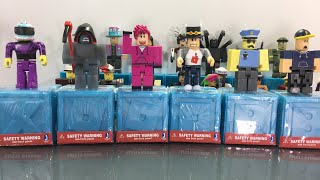 Unboxing Roblox Toys Live and Giving Away the Codes - Series 3 Blue Box