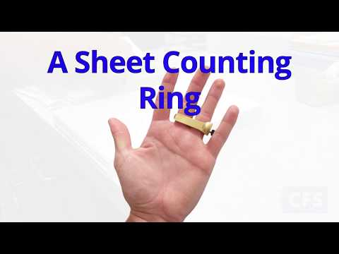 KWIK-PIK-R Sheet Counting Ring (KPR1) Pick The Perfect Lift Of Paper! Paper Counter!