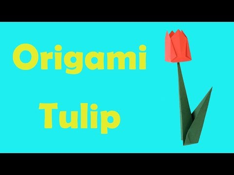 How to Fold an Origami Tulip Flower
