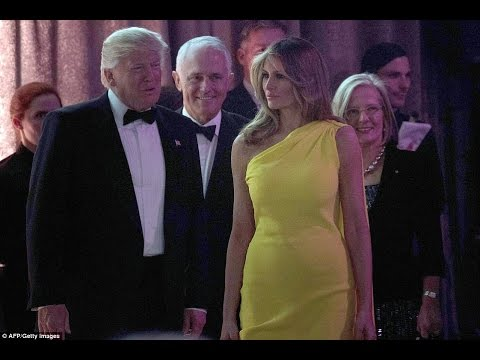 Golden girl! Melania Trump glows in Australia's national yellow color in NYC! 5th may 2017!